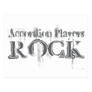 Accordion Players Rock Postcard