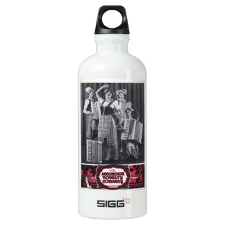 Accordion players - vintage photo water bottle