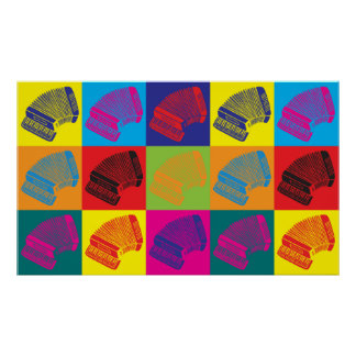 Accordion Pop Art Poster