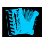 accordion postcard
