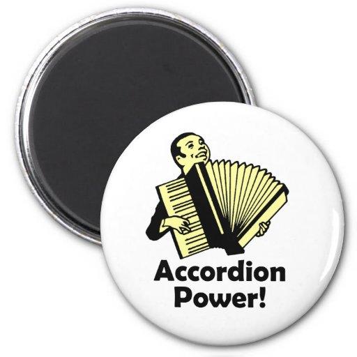 Accordion Power! 2 Inch Round Magnet
