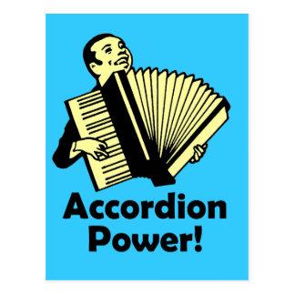 Accordion Power! Postcard