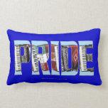 Accordion PRIDE Throw Pillow