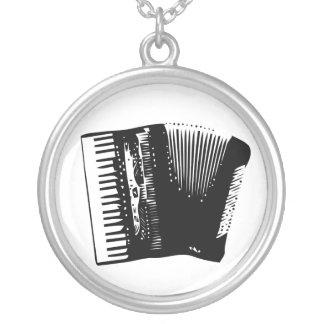 accordion round pendant necklace