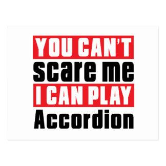 Accordion Scare Designs Postcard