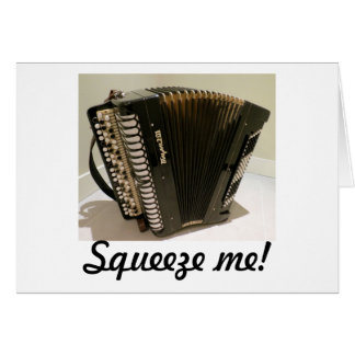 Accordion Squeezebox greeting card