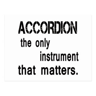 accordion the only instrument that matters. postcard