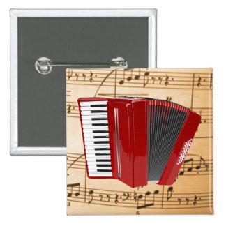 Accordion: The Red Accordion Pinback Button