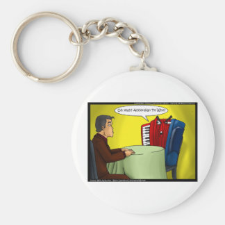 Accordion To Who Funny Gifts Tees & Cards Basic Round Button Keychain