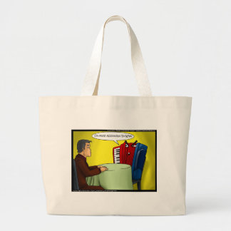 Accordion To Who Funny Gifts Tees & Cards Large Tote Bag