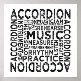 Accordion Typography Poster