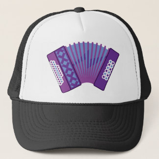 Accordion vector trucker hat