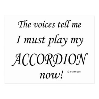 Accordion Voices Say Must Play Post Cards