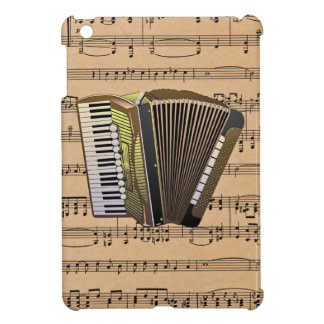 Accordion With Sheet Music Background iPad Mini Cover