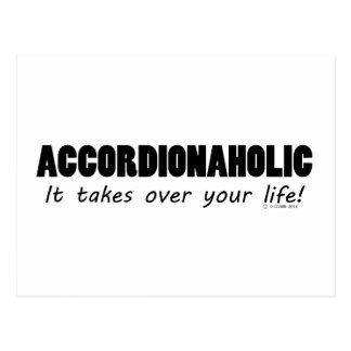 Accordionaholic Life Postcard