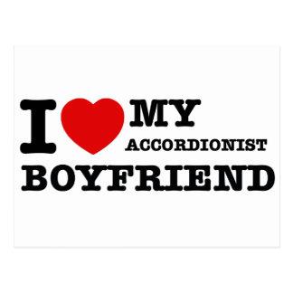 Accordionist Boyfriend Designs Postcard