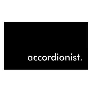 accordionist. business card