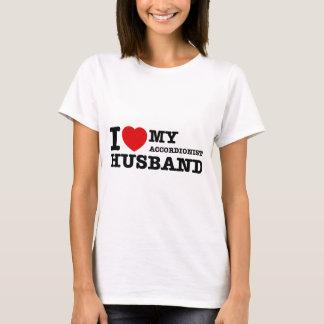 Accordionist Husband Designs T-Shirt