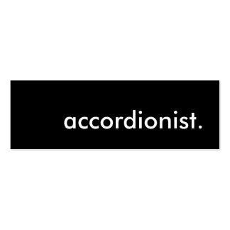 accordionist. mini business card