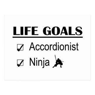 Accordionist Ninja Life Goals Postcard