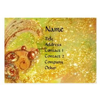 ACCORDIONIST Yellow Large Business Cards (Pack Of 100)