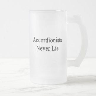 Accordionists Never Lie. Glass Beer Mugs