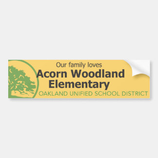 Accorn Woodland Elementary School Bumper Stickers