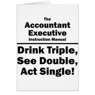 account executive instruction manual card