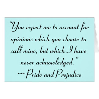 Account for Opinions Jane Austen Quote Card