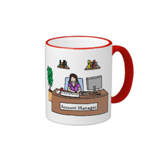 """Account Manager"" personalized cartoon mug"