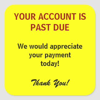 ACCOUNT PAST DUE Billing Stickers