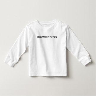accountability matters toddler t-shirt