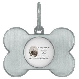 Accountability Mother Caution Bierce Dictionary Pet Tag