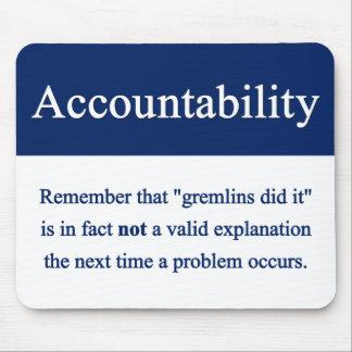 Accountability Mousepad