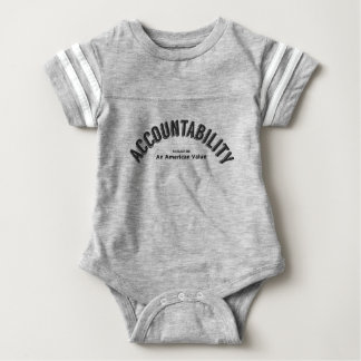 Accountability Should Be An American Value Baby Bodysuit