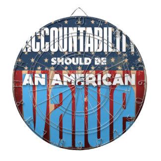 Accountability Should Be An American Value, Grunge Dart Board
