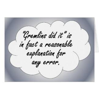 Accountability: The next time an error occurs Card