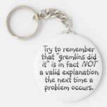 Accountability: The next time an error occurs Key Chain