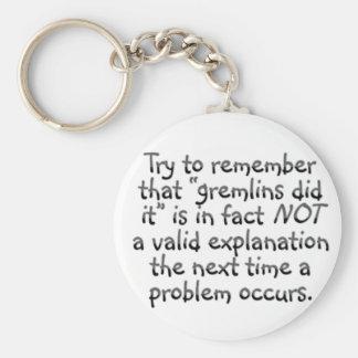Accountability: The next time an error occurs Basic Round Button Keychain