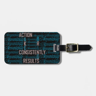 Accountability Word Art Quote Luggage Tags