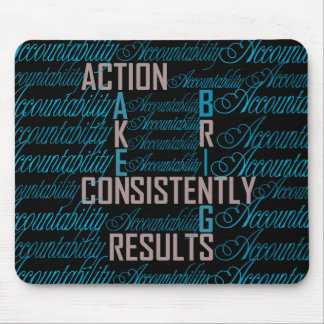 Accountability Word Art Quote Mouse Pads