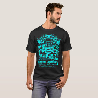 Accountaholic Accountant Ledger Lover Number Crunc T-Shirt