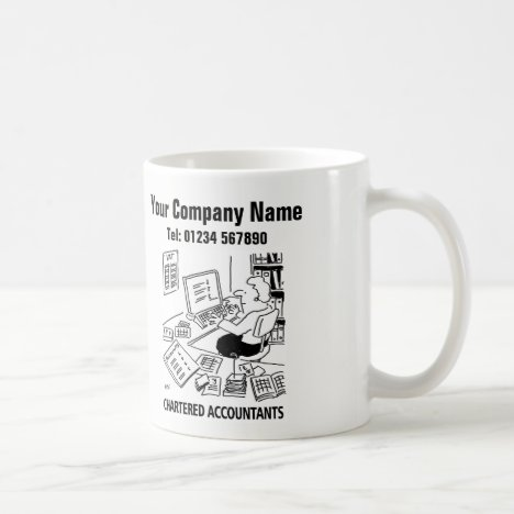 Accountancy Services Cartoon Mug