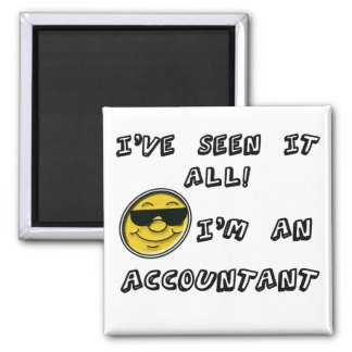 Accountant 2 Inch Square Magnet