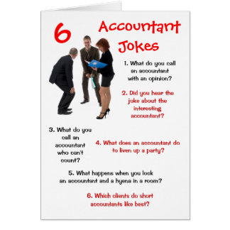 Accountant - 6 Accountant Jokes Funny Birthday Card