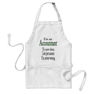 ACCOUNTANT ADULT APRON