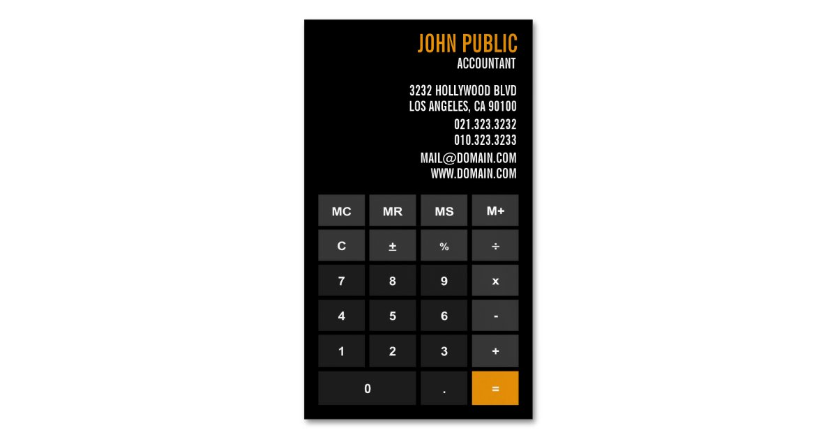 Accountant App Calculator Business Card Magnet | Zazzle.com