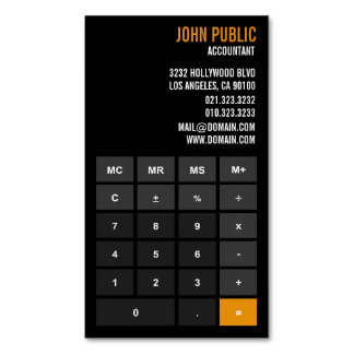 Accountant App Calculator Magnetic Business Cards (Pack Of 25)