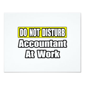 Accountant At Work 4.25x5.5 Paper Invitation Card