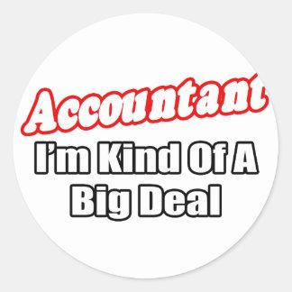Accountant...Big Deal Classic Round Sticker